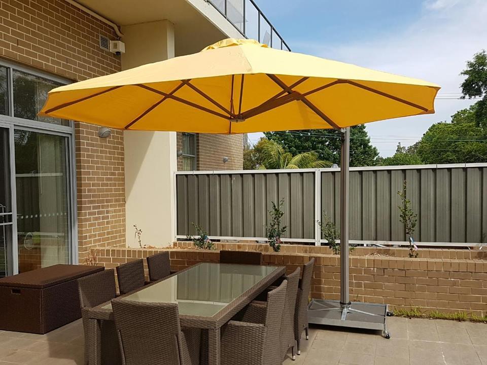 yellow outdoor umbrella