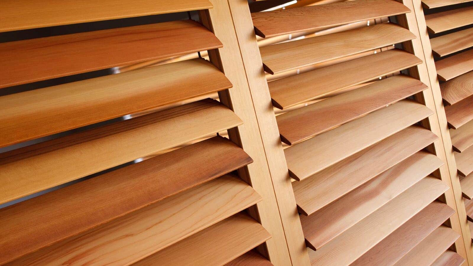 wooden plantation shutter