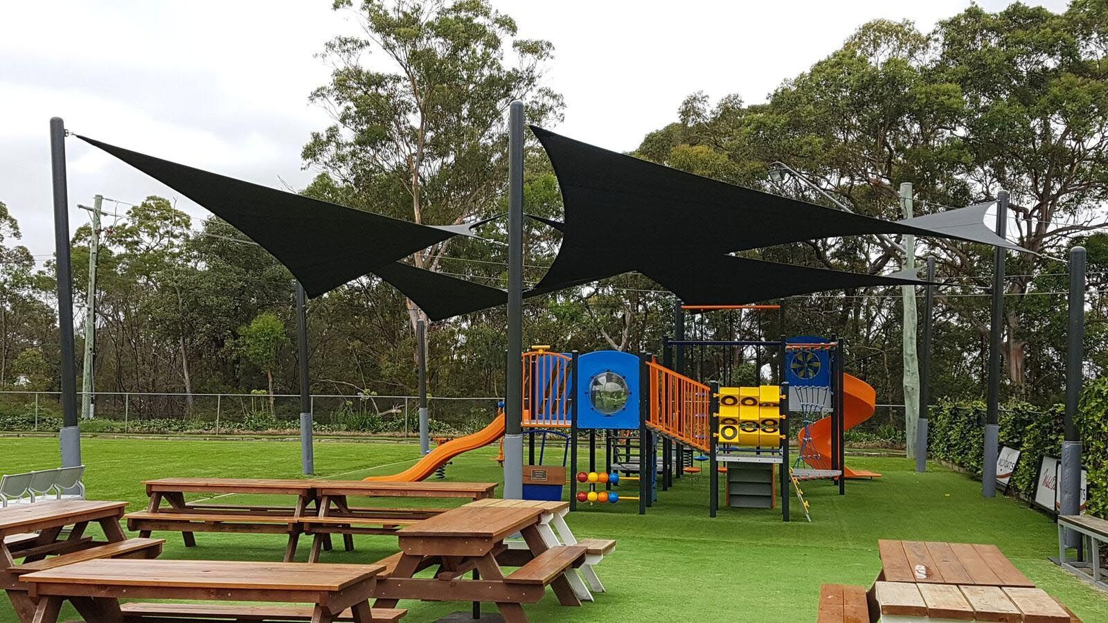 Black Shade Sails for Parks