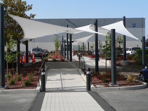 shade sails for walkway