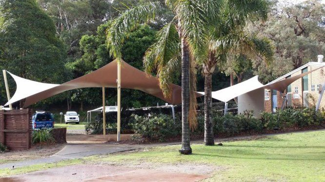 long shade sails for park