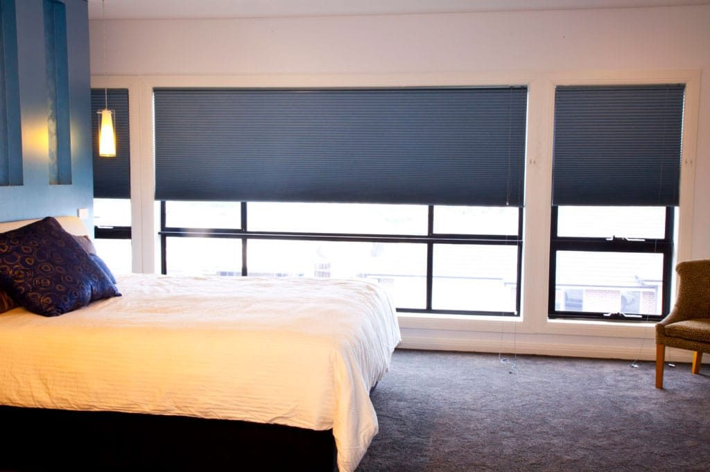 bedroom honeycomb blinds