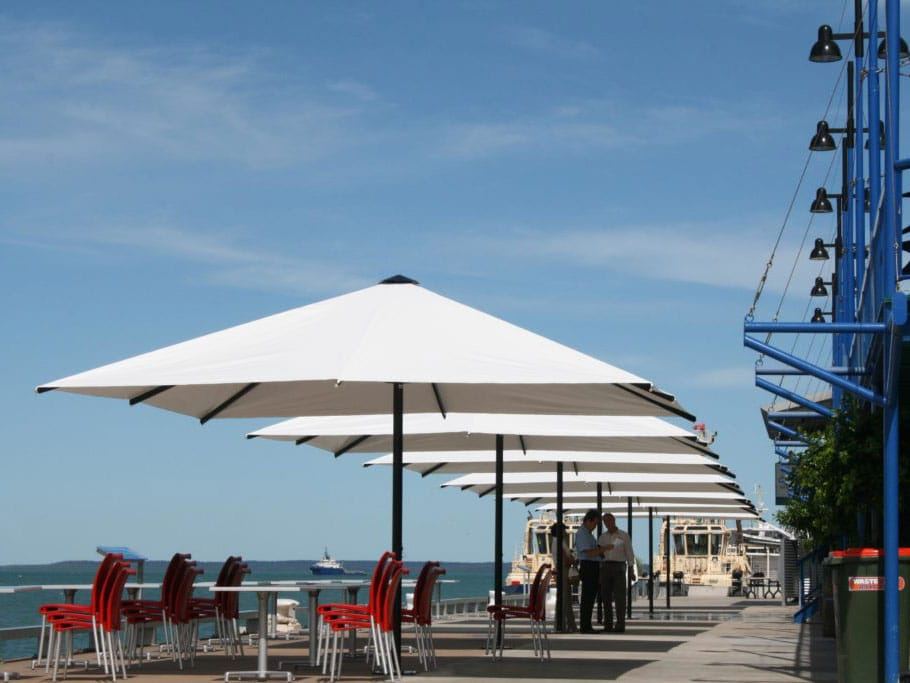 White Square Beach Outdoor Umbrellas