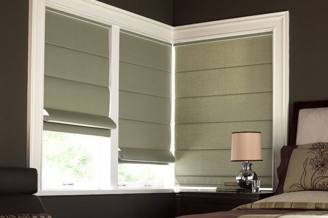 Green Color Vertical Panel Window Blinds