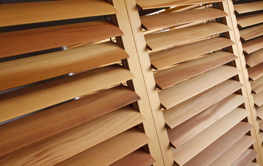 modern wooden plantation shutter