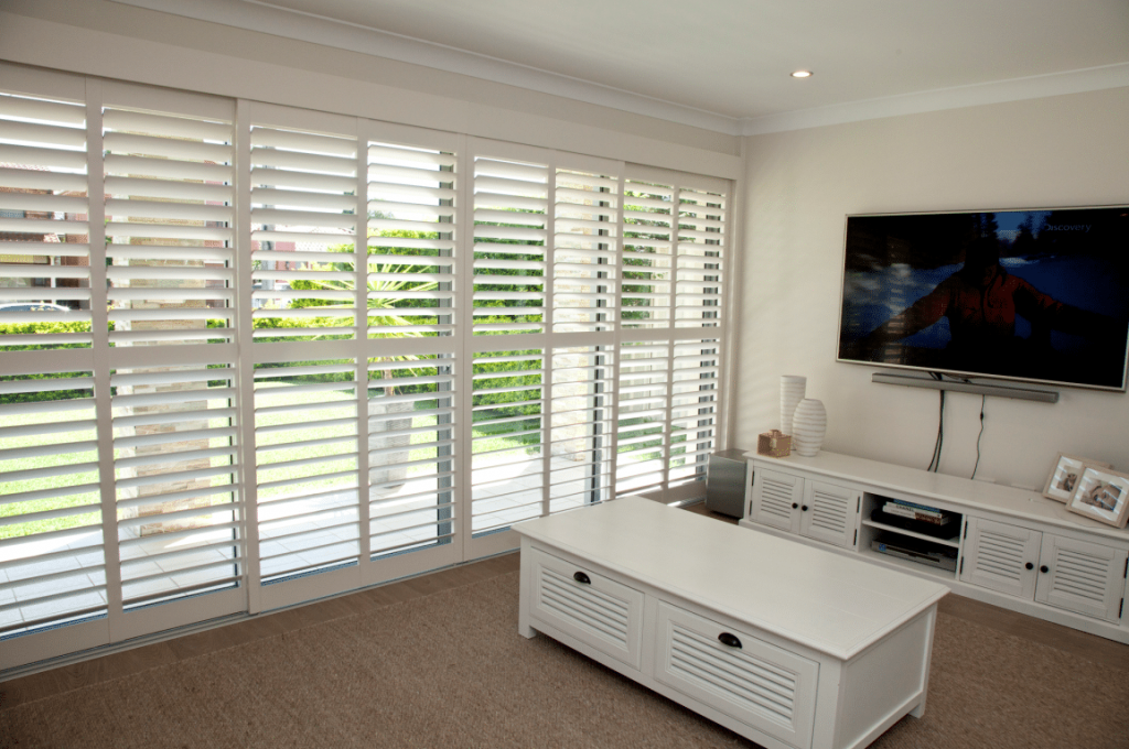 plantation shutter services for living room