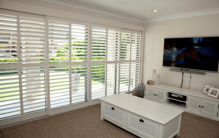 plantation shutter services for living room