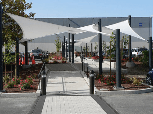 walkway shade sails