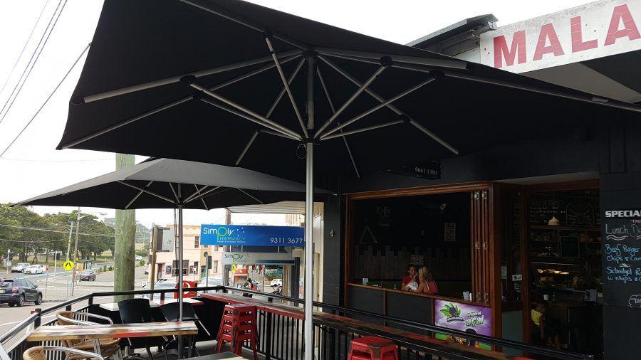 Market Amp Caf 233 Umbrellas Sydney Ashadya Shade Sails Amp Blinds