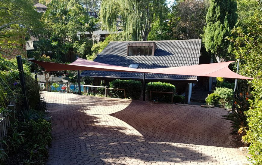 shade sails as Carport at Denistone