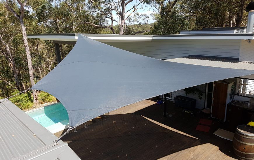 shade sails over Deck at Glenorie
